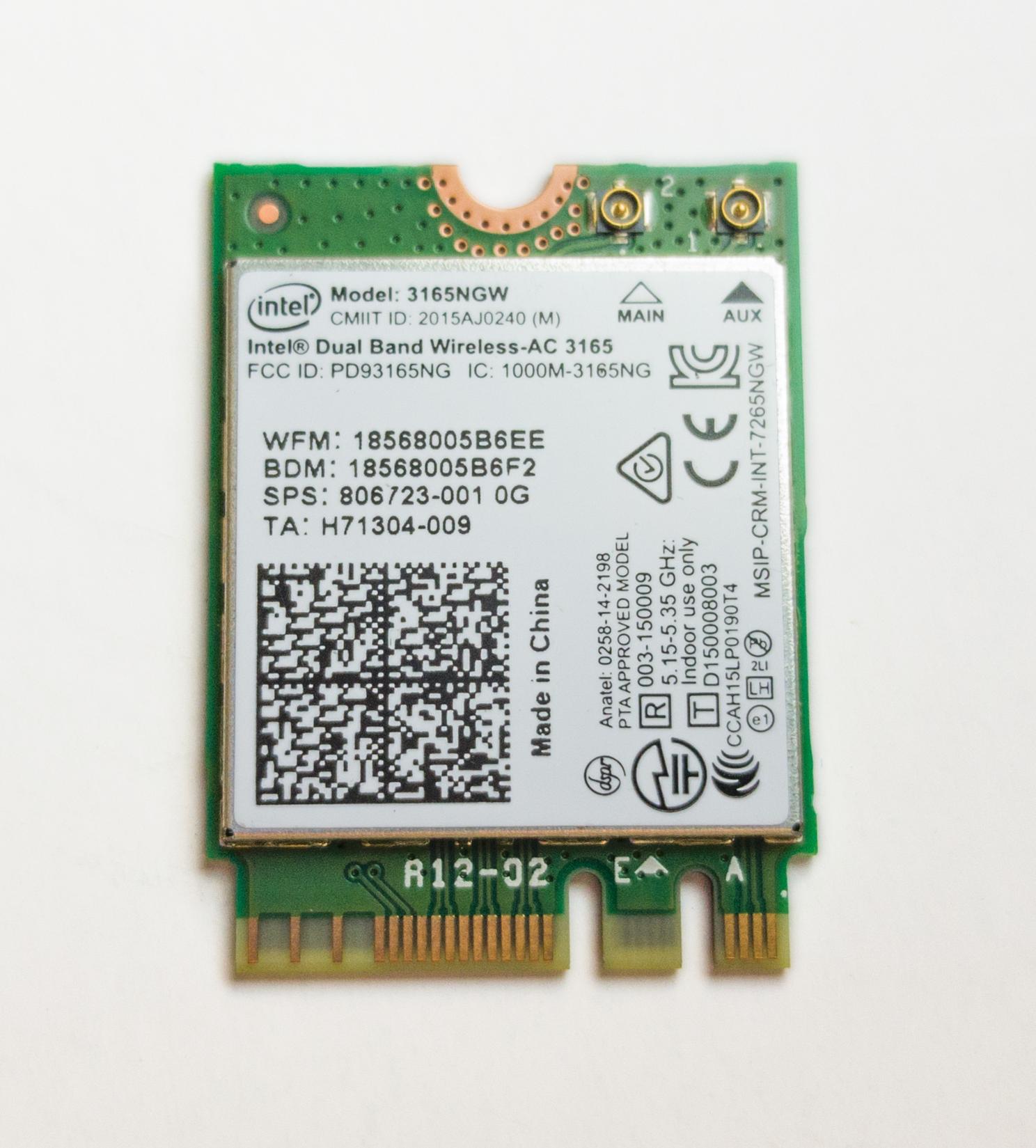 Giada WiFi en Bluetooth module, mini PCI Express, Azurewave met Giada antenne, 802.11AC 1+1, Bluetooth 4.0